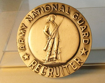 Army National Guard Recruiter Badge