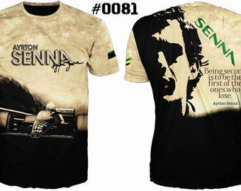 New Ultramodern 3D High Quality Formula 1 Ayrton Senna  Mens  T-shirt
