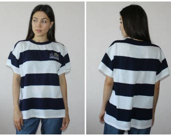 Free shipping! chemise lacoste vintage t-shirt