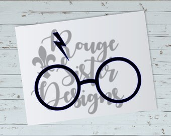 Harry Potter Glasses SVG PNG Cutting File