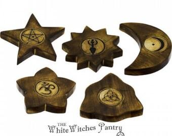 Wooden Incense Holder - assorted designs