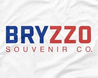 Chicago Cubs Shirt BRYZZO Souvenir Co. White Size S M L XL 2XL 3XL Wrigley Field 2016 World Series Champions Kris Bryant Anthony Rizzo Tee