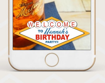 Las Vegas Geofilter, Welcome to las vegas Birthday Geofilter, las vegas sign geofilter, custom Snapchat geo filter, casino geofilter B41