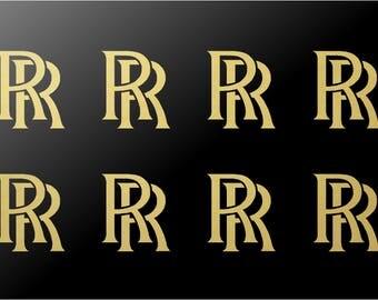 Rolls Royce Logo Vinyl Decals Stickers Set of 8