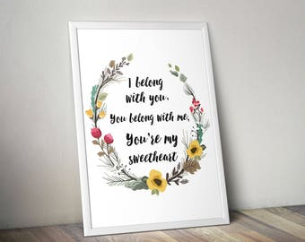 I Belong With You - Print - Wall Art