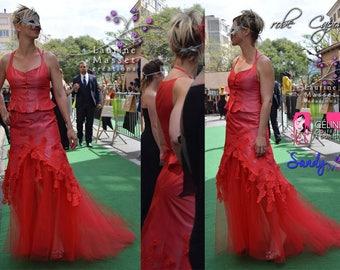 CAPONE evening suit, LAURINE MASSET red wedding