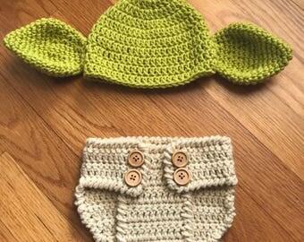 Yoda Beanie & Diaper Cover