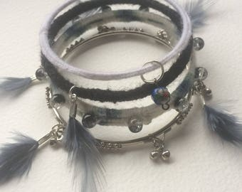 Bangles bracelet. Foenix Gray.