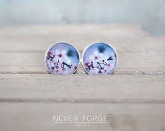 "Earrings ""cherry blossoms"" - 16 mm"