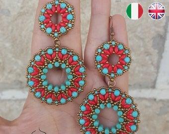 Earrings Tibet- beading pattern