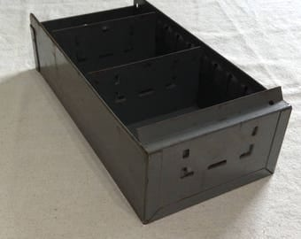 Rustic Industrial Metal Tool Box Drawer Storage Shabby Chippy Industrial Decor