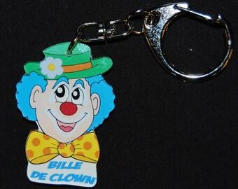 clown ball key chain