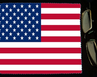 Cloth wipes USA flag sunglasses