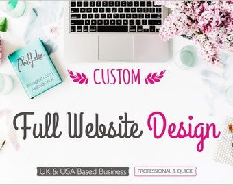 Website Development, Custom Website Design, Full Website Package with a Luxury and Specialised Logo and Payment Integration Setup