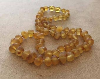 Raw Honey Amber Necklace, Amber Necklace, Healing Necklace, Raw Amber Necklace, Natural Amber Necklace, Calming Necklace, Raw Amber,