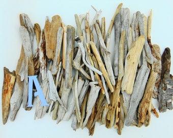 "Natural Freshwater Driftwood - 80 Medium pieces 6""-8"" long - Lot A"