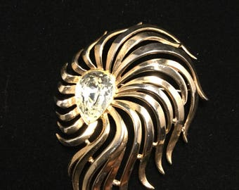 "CROWN TRIFARI  ""ABSTRACT"" Alfred  Phillippe Brooch"