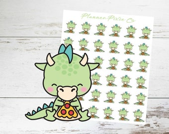 Dragon Planner Stickers // Pizza Night // Cheat Day