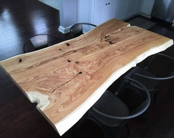 Live Edge Dining Room Table Made from Honey Locust