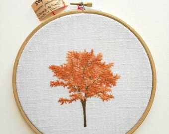 Embroidered tree - embroidery Hoop - embroidery