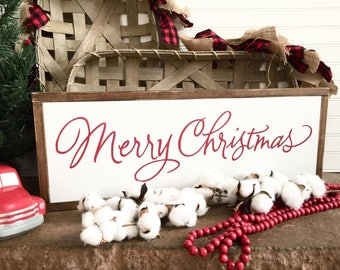 Merry Christmas, Wood Sign, Farmhouse Style Sign,Home Decor,Rustic Decor,Farmhouse Sign,Christmas Gifts,Christmas, Farmhouse Christmas Decor