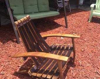 Custom Wine Barrel Adirondack Chair