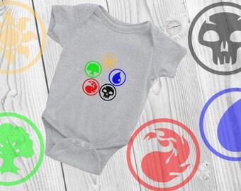 Magic The Gathering Baby Onesie, MTG Baby Onesie, Mana Baby Onesie, Magic Baby Onesie, TCG Baby Onesie, Baby Shower Gift