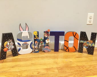 Space jam letters/ space jam party/ space jam decorations/ space jam birthday/ space jam party decorations