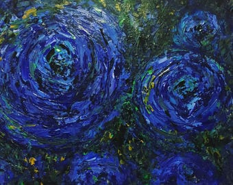 Circles of blue