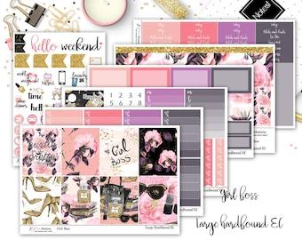 Girl Boss   Full Weekly Kit   Large Hardbound Erin Condren Vertical Planner