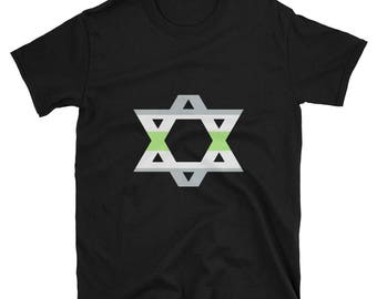 agender pride magen david star of david Unisex T-Shirt lgbt lgbtq lgbqipa