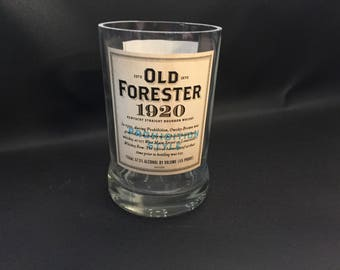 Old Forester 1920 Bourbon Whiskey Bottle Soy Candle With/Without Base. 750ML. Made To Order !!!!!!!