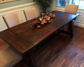 Farmhouse Dining Table, Truss Dining Table, Rustic Dining Table, Rustic Table, farmhouse table