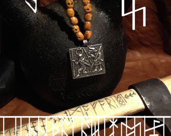 Berseker pendant / Berserker bone skull pendant / berserker skull bead / viking pendant / wolf skull bead / skull bone beads / odin shaman