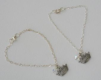 Pewter Crown Bracelet