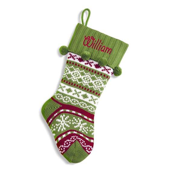 Fair isle Personalized Christmas Stockings Knit Christmas