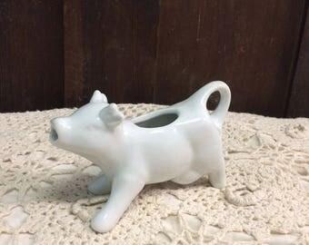Vintage White Cow Creamer