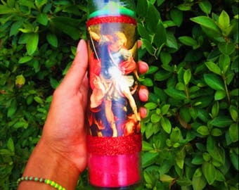 Protection Seven Day Candle- Saint Michael- Prayer Candle- San Miguel - Altar Candle