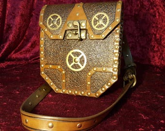 """Steampunk"" leather bag"