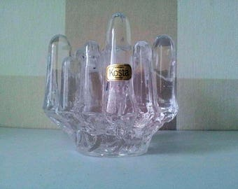 Kosta Boda _Goran Warff_Glass Candle Holder_1960_Gift_Present_Valentine's Day.