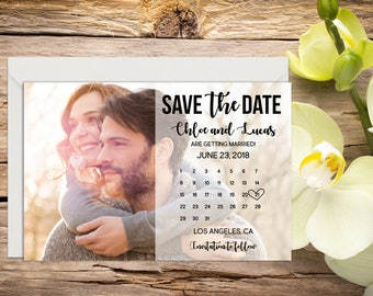 Printed Photo Save the Date,  Photo Save the Date, Classic Wedding, Romantic Wedding, Printed Save the Date Card, Save-the-date