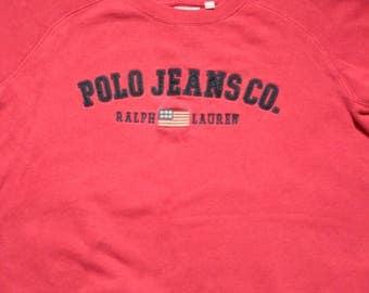 Vintage Polo Jeans Ralph Loren Spellout Sweatshirt