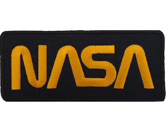 NASA Iron On Patch Embroidered Astronaut Fancy Dress T Shirt Black Sew On Badge