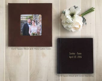 12x12 Leather Cover Custom Designed Wedding Album