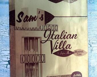 Sam's Italian Villa Menu  Memphis Tn