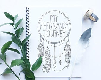 My Pregnancy Journey | Pregnancy Book, Pregnancy journal, Pregnancy Diary, Minimalistic, Expecting, Baby Book, Baby Album, Memory Book, Boho