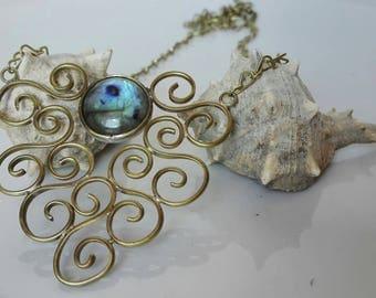 Labradorit Spiral Necklace