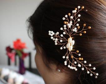 bridal hair comb, elegant hair comb, wedding hair comb, braut haarschmuck, braut hairkamm