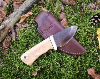 Skinner knife - Small knife - Hand made knives - Hand forget knife - Pocket Knife - Hunting knife - Marco knives