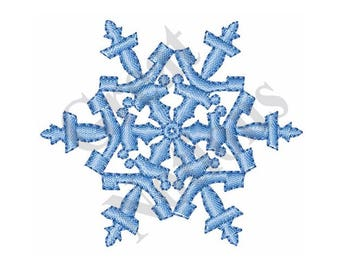 Snowflake - Machine Embroidery Design